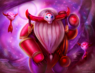 [Commission] Blood Moon Bard Skin Concept by ROGUEKELSEY