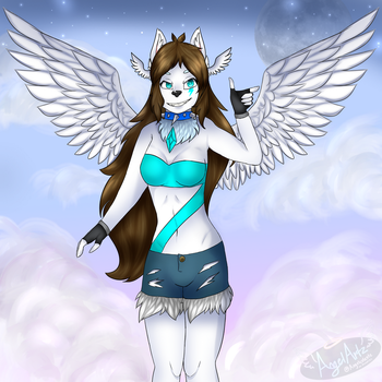 Wings fully extended! by Angelceleste