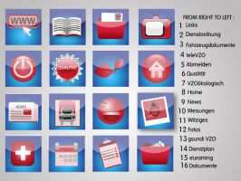 Red and Blue Icon Set by SoftPurple