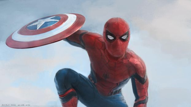 Spiderman Digital Painting by minifong
