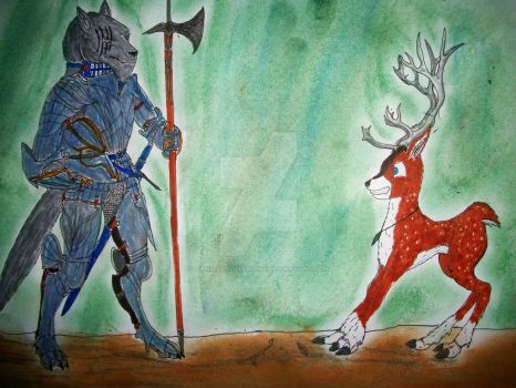 Meeting Tyandaga Art Contest: Cadel The Grey Wolf by CannicusPalentine
