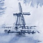 Dutch Windmill by Moolver-sin
