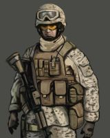 USMC soldier speed painting by FonteArt