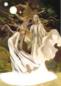 Galadriel and Celeborn by VincentPompetti