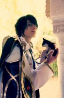 Lelouch and Small Arthur by CosplayCami