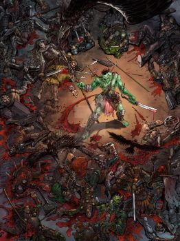 Battle of the Orcs by daxiong