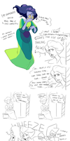 Peacock Diamond doodles by Pikokko