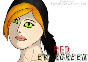 Second Red Evergreen by iFerneh