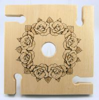 Wine Trivet For Four, 'Of Wine And Roses' by STUMPITUPWoodworks