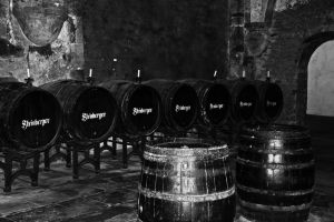 Wine cellar - monochrome ( 2 ) by UdoChristmann