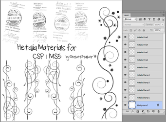 + Hetalia Materials | For CSP/MS5 + by SerketXXI