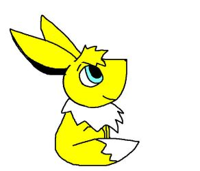 Yellow the eevee by Pinkytheeevee