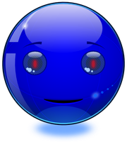 iSmiley - Robot Smiley: Blue by mondspeer