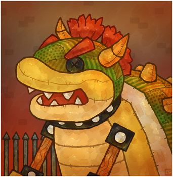 Paper Mario 64: Trojan Bowser by Louivi