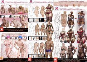 pinup tutorials bonus pack .promo. by sakimichan