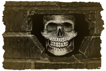 Frohickey's skull in the wall by Captain34
