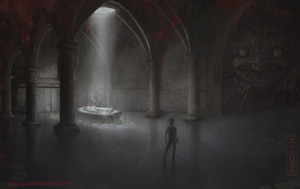 'Go to the Girl' dungeon horror concept by ZAKUGA