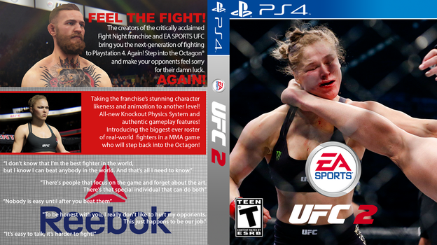 EA Sports UFC 2 Cover PS4 by monoheel