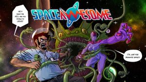 Space Awesome Splash 2014 oh wow by FelipeChoque