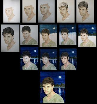 Enrique Iglesias Silver Moon stages by traciewayling