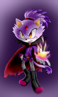 .Blaze the cat Imperial. by Kime-Cupcake