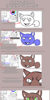 How I color in Paint Tool SAI (Tutorial) by xKoday