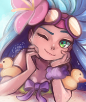 Pool Party Zoe by Nyamuh