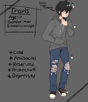 Travis Reference Sheet - OC by narkissa03