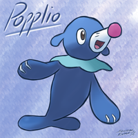 Popplio from Pokemon Sun and Moon by Sylverstone14