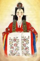 Korean Traditional Attire - Hwarot by IsabellaBLK