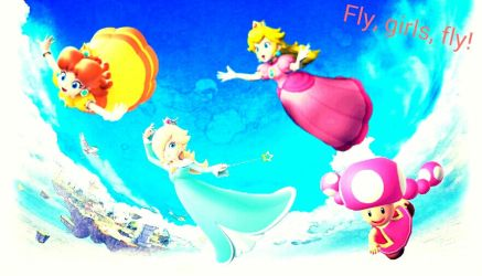 Mario Girls - I believe I can fly by Princess-OfAnime
