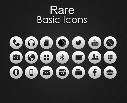 Rare White icons by HunterDsg
