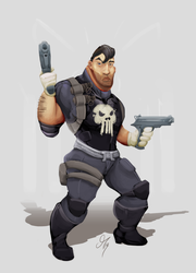 The Punisher by HotCyder