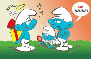 Smurfday Surprise... by acla13