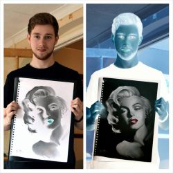 Marilyn Monroe Inverted Drawing by Liam J. York by MrYorkie