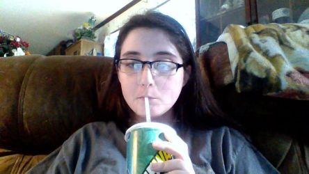 At home with a Subway drink... by LoZSkullKid