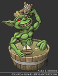 Goblin in a Tub by Canada-Guy-Eh