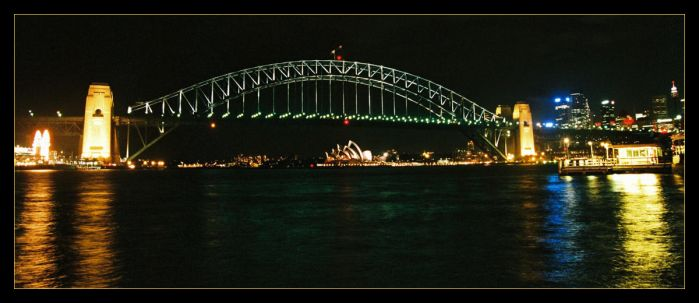 Harbour Bridge panorama 1 by wildplaces