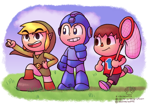 Three Smash Bros Bois by Strikerwott12