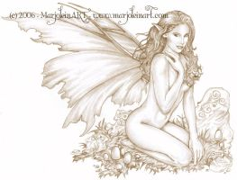 Fairy in Sepia by MarjoleinART