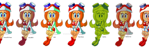 OMG MONA PIZZA RECOLORS (Console Version) by monachao
