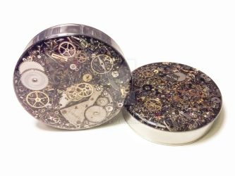 2in 1 PAIR Single Flare Steampunk Tunnels Gauges by jewelryfx