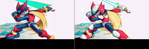 Rockman Zero X-Style Artwork by Thanatos-Zero