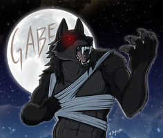 Commission - Gabe Badge by shadowsmyst