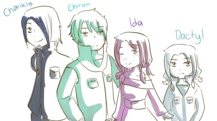 Request:: Chariklo, Chiron, Ida and Dactyl by 88Days-a-Year