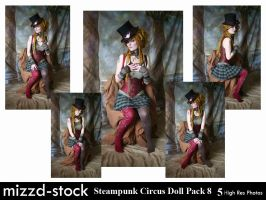 Steampunk Circus Doll Pack 8 by mizzd-stock
