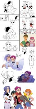 Pokemon Shipping/Next Gen Doodles by kilalaaa