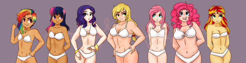 Main Seven Body Types by CosmicPonye