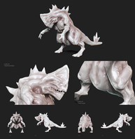 Dinosaur Type 1 - 3D Doodling by redtemplepilots