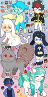 look at all those chibis (ft. icons) by satuwn